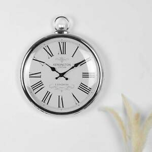 Pocket Silver Wall Clock Numerals Wall Clock Movement Home Bedroom Kitchen Clock