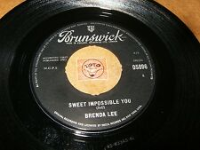 BRENDA LEE - SWEET IMPOSSIBLE YOU - THE GRASS IS GREENER  / LISTEN