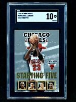 1996-97 NBA Hoops #4 Michael Jordan Starting Five SGC 10