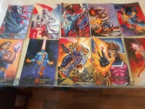 1995 FLEER ULTRA X-MEN COMPLETE SET OF 10 MARVEL PRINT CARDS JUMBO NM/MINT