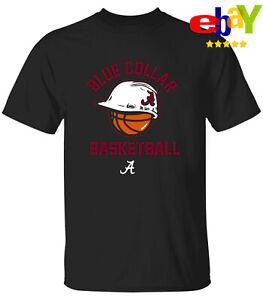 Men's Blue Collar Alabama Crimson Tide Basketball 2021 Logo Black T-shirt M-3XL