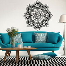 Bohemian Mandala Flower Indian Art Wall Stickers Decal Mural Home Vinyl Family White