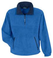 Tri-Mountain Men's Heavyweight 1/4 Zip Panda Front Pockets Fleece Pullover. 7550