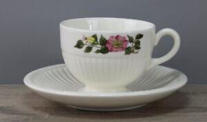 Wedgwood Edme Briar Rose Teetasse mit Unterteller/Untertasse Untere Tasse