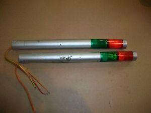 2pc Patlite Beacon Stack Light  Model MT    120vac   Red / Green