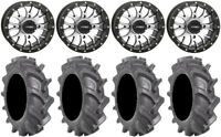 """System 3 ST-3 Machined 14"""" Wheels 30"""" BKT AT 171 Tires Can-Am Commander Maverick"""