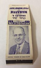 Vintage Matchbook Cover Matchcover Vote Charles E Mahaffie Prothonotary