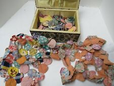 150 +++ Vintage Yo Yo Quilt Blocks Made from Feed Sack Material Fabric 2 in Wide