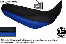 BLACK & BLUE VINYL CUSTOM FITS YAMAHA XT 660 R 04-17 DUAL SEAT COVER