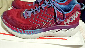 HOKA ONE ONE Clifton 4 Womens Size 10.5 Running Hiking Shoes Cranberry MSRP $150