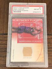 2000 Fleer Genuine Vince Carter GU Court Relic #NF3 PSA 8 Toronto Raptors