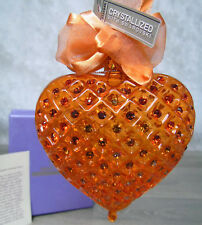 New Mothers Day Heart Of A Woman Blown Glass Ornament With Swarovski Crystal!