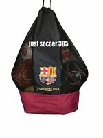 FC Barcelona Nylon Mesh Drawstring Sports Equipment Ball Bag Large Sack