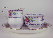 Small Creamer + Sugar Bowl + Regal Tray Royal Albert Petit Point vintage England