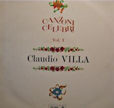CLAUDIO VILLA canzoni celebri vol 1 LP CETRA piccola butterfly/tango del mare EX
