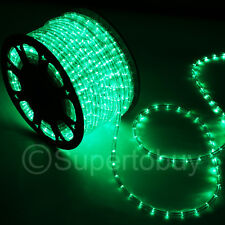 Green LED Rope 150ft 110V 2 Wire Flexible DIY Lighting Outdoor Christmas xmas