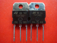 2pair IC TRANSISTOR TIP35C + TIP36C Power Transistor 25A 100V 125W (A183)
