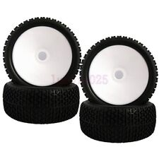 4PCS RC 1:8 Off-Road Buggy Car Foam Rubber Tyre Tires Wheel Rim white 81W-804