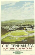 1948 cheltenham spa british railway poster A3 print