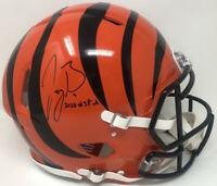 "JOE BURROW Autographed ""2020 #1 Pick"" Bengals Speed Authentic Helmet FANATICS"