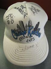 Signed Chicago Knockers Professional Mud Wrestling Hat: WildFire,  Ebony Eyes...