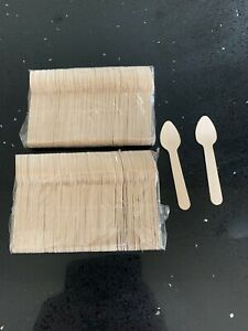Biodegradable Disposable Wooden Cutlery -108mm Teaspoons Box Of 1000