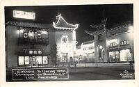 A71/ Los Angeles California Ca Postcard Real Photo RPPC c40s Chinatown Ginling