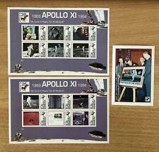 Antigua und Barbuda 1994 - 3 Bl. Raumfahrt Apollo 11. Postfrisch