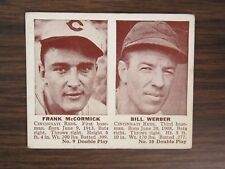 1941 Double Play # 9 10 Frank McCormick & Bill Werber Card (B67) Cincinnati Reds