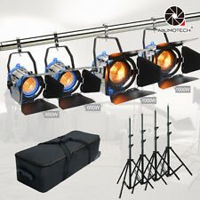 650W*2+1000w*2 Built-in Dimmer Fresnel Tungsten Spot Light+Case+Stand*4 Kit