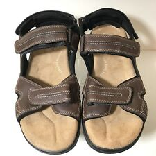 Dockers Mens US Sz 10 Brown Sandals Adjustable Straps (P604)