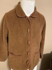 ORVIS Womens Brown Fleece Lightweight Button Cotton Acrylic Jacket Medium M