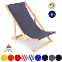 Liegestuhl klappbar aus Holz Liege Relaxliege Gartenliege Strandstuhl 9 Farben