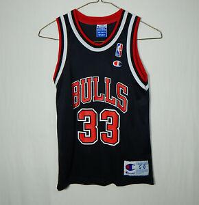 Scottie Pippen Chicago Bulls NBA Basketball Jersey Champion Boys YOUTH SMALL 8