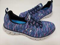 NEW! Skechers Women's Duel Lite Slip On Shoes Navy/Multi #22327 185P tz