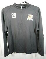 Nike Golf Mens Princeton Wildcats Size L Long Sleeve Black 1/4 Zip Shirt