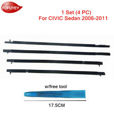 For Civic Sedan 2006 2011 Window Weatherstrip 4pc Sweep Molded Trim Black Withtool Fits 2006 Civic