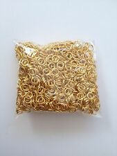 1000 pcs Gold Plated Open Jump Rings 5mm Jewelry 59G Finding Ring Tools Findings