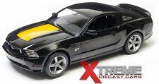GREENLIGHT 12869B 1:18 2010 FORD MUSTANG GT BLACK W/HOOD STRIPE DIECAST MODEL