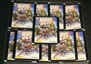 PANINI Marvel 80th Anniversary Stickers Sealed Packs NEW! (10 Pack Lot)