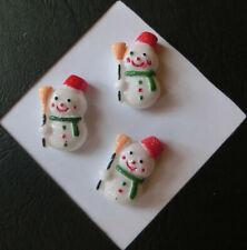 3 Kinderknöpfe Knöpfe Weihnachtsknöpfe mit Glitzer Dekoknöpfe Bastelknöpfe S15-8