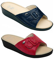 SCHOLL MANGO Memory Cushion sandali zoccoli ciabatte pantofole donna zeppa pelle