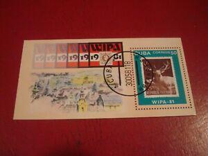 CENTRAL AMERICA - 1981 WIPA. - MINISHEET - UNMOUNTED USED MINIATURE SHEET