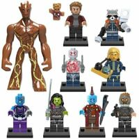 10 MINI FIGURES FIT LEGO GUARDIANS OF THE GALAXY MINIFIGS 2020 AVENGERS + Groot