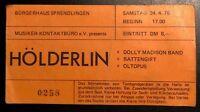 Sammler Ticket HÖLDERLIN von 04/'76