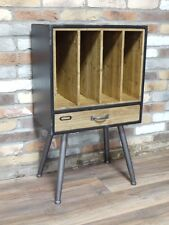 Deposito industriale armadietto Record Vinile Record Player Storage Look Effetto Invecchiato