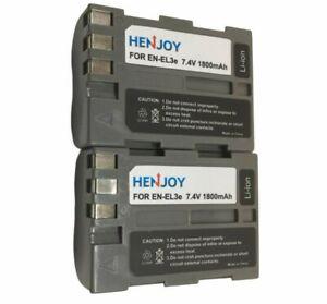 2x EN-EL3E Rechargeable Li-ion Battery for Nikon D30 D50 D70 D70S D80 D90 D100