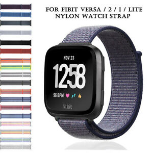 Lite Nylon Sports Strap For Fitbit Versa 2 1  band Loop Watch Wristband Bands