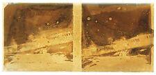 Train Plaque de verre stéréo positive oxydée avec un effet pictural ca 1910