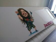 Dimebag Darrell caricature full color vinyl sticker - pantera guitar dean cfh